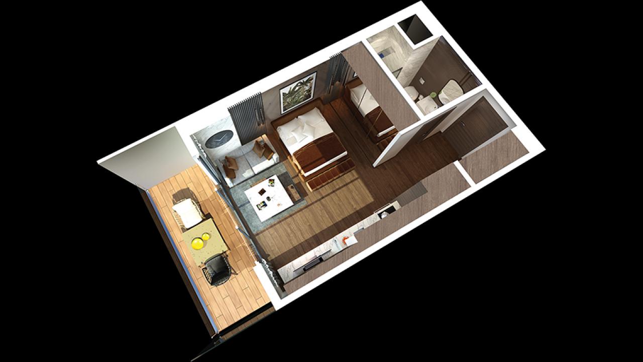 Studio Apartment, Iskele, Grand Sapphire Resort